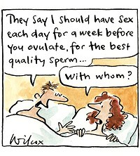 What days do you advise your patients to be intimate?