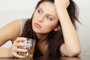 Infertility-Prevention_Woman-in-Depression-Drinking-Alcohol