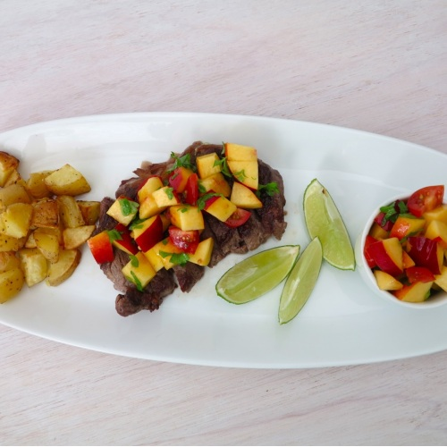 Steak with Nectarine Salsa | Meal Plans & Recipes