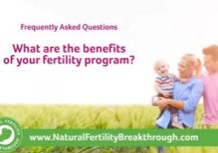 What are the benefits of your fertility program Natural Fertility Breakthrough Program